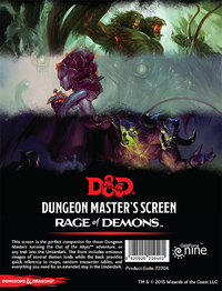 D&D: Dungeon Master's Screen (Rage of Demons)