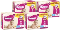 Huggies Ultra Dry Nappies Bulk Shipper - Infant Girl 4-8kg (192)