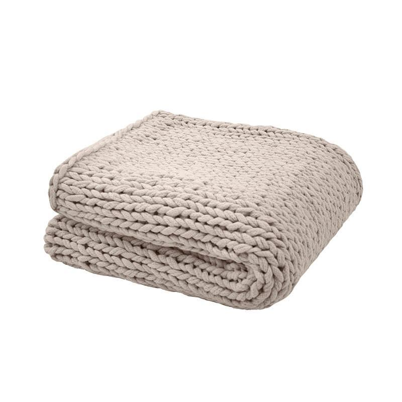 Bambury Chunky Knit Throw (Pebble) image