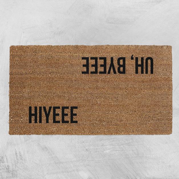 f3118eaf7ea3 Natural Fibre Doormat - Hiyee Uh, Byeee | at Mighty Ape NZ