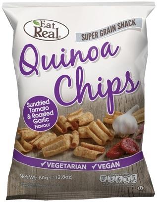 Eat Real Quinoa Chips - Sundried Tomato & Roasted Garlic (80g)