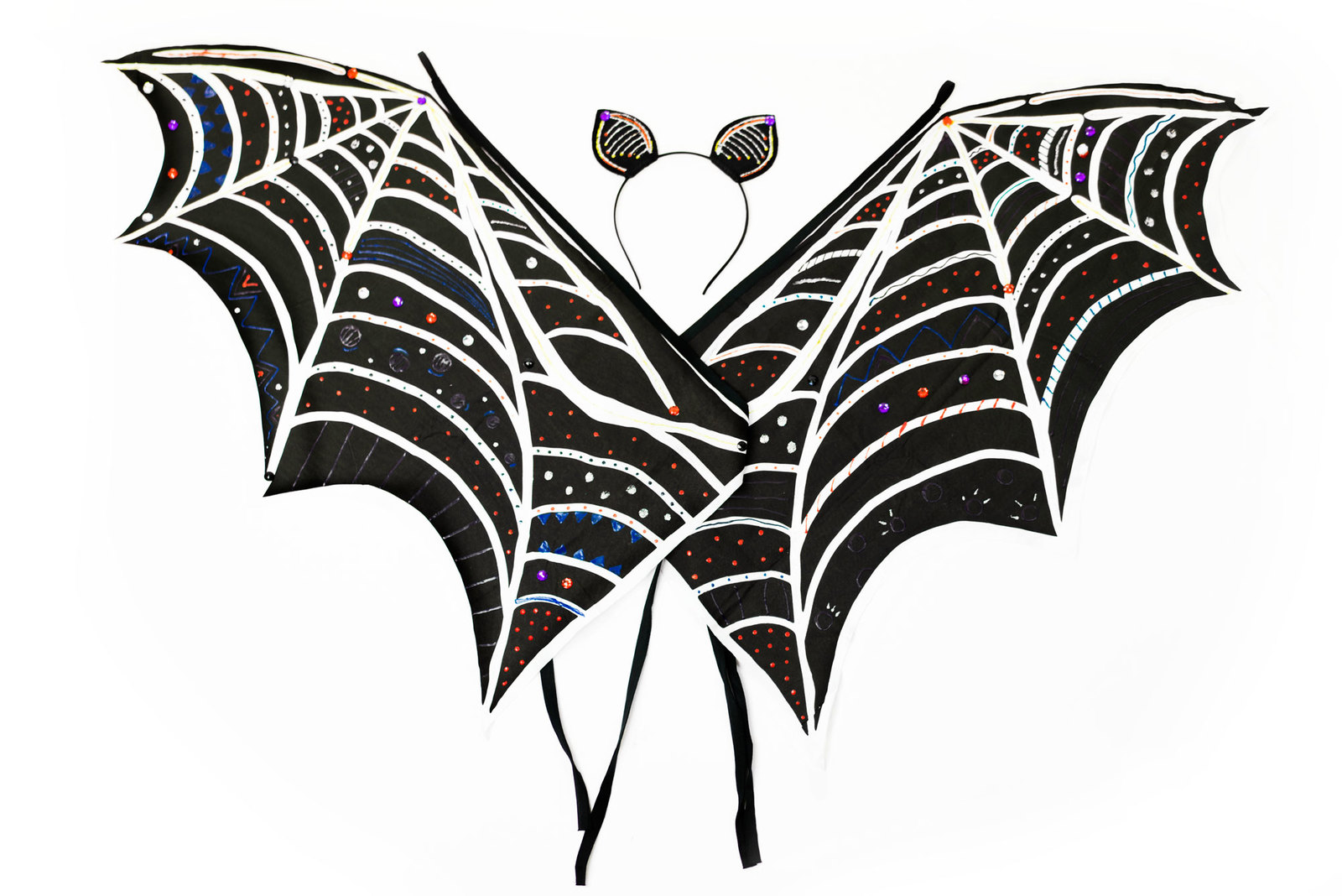 Design Your Own Bat Wings Ears Craft Kit Toy At Mighty Ape Nz