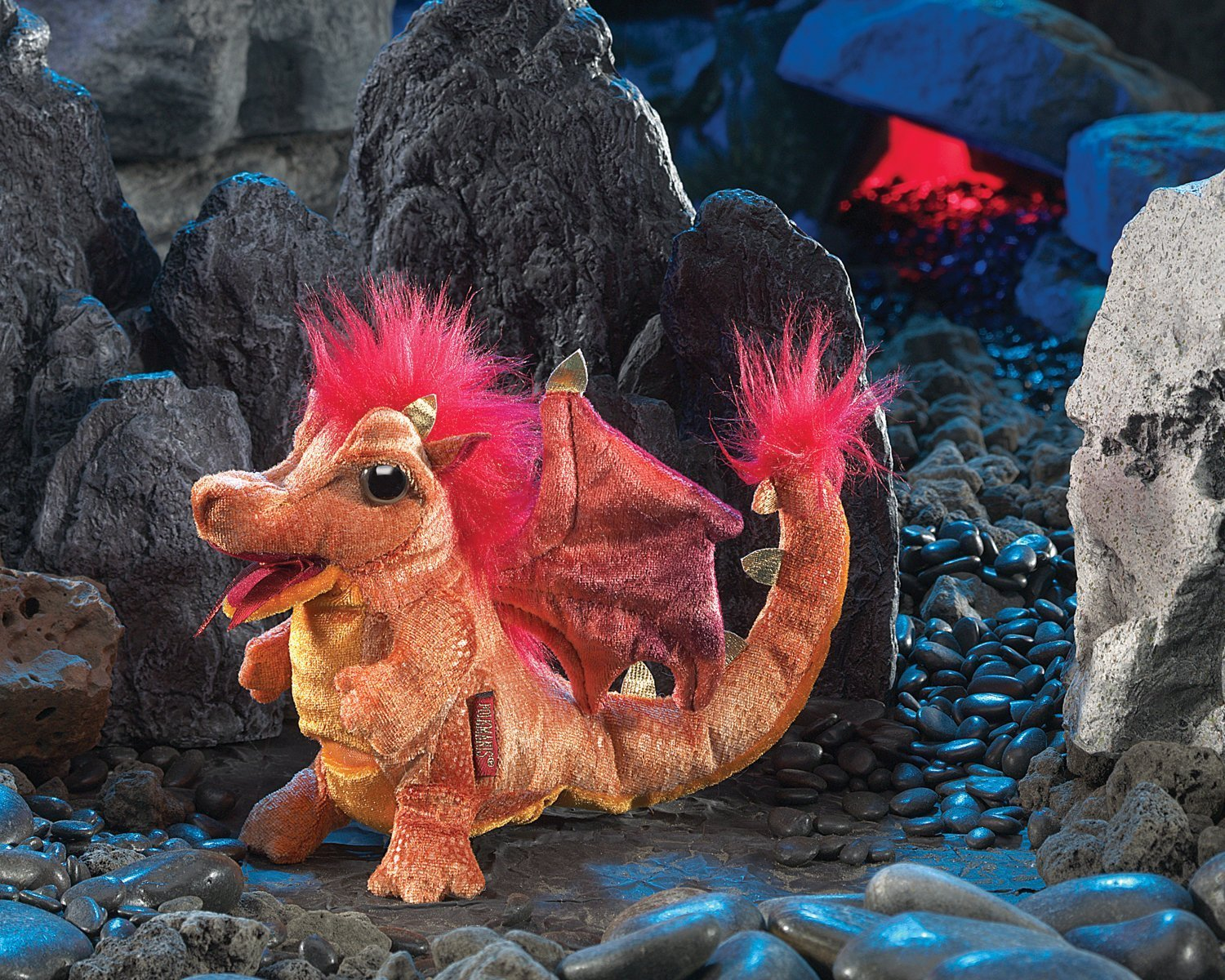 Folkmanis Hand Puppet - Fire Dragon image
