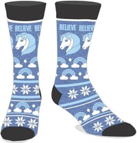 Fairisle: Believe In Unicorns - Men's Crew Sock
