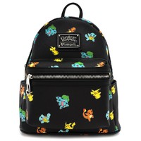 Loungefly: Pokemon Starters Print - Fashion Mini Backpack