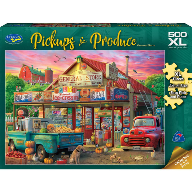 Holdson XL: 500 Piece Puzzle - Pickups & Produce (General Store)