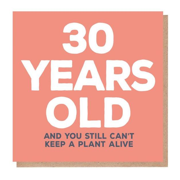 Mixed Messages: 30 Years Old Birthday Card