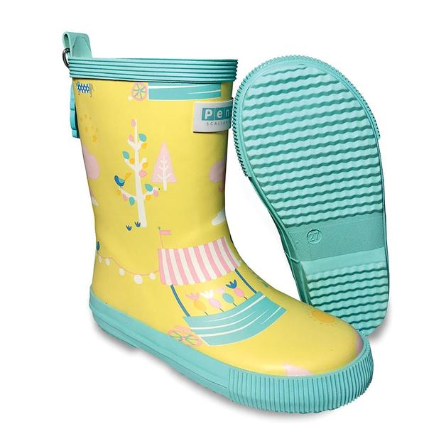 Penny Scallan: Gumboot Tall - Park Life (Size 28 - Size 10)