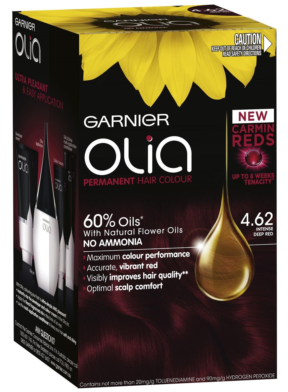 Buy Garnier Olia Hair Colour 4 62 Intense Deep Red At