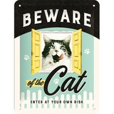 Nostalgic Art Tin Sign - Beware of the Cat