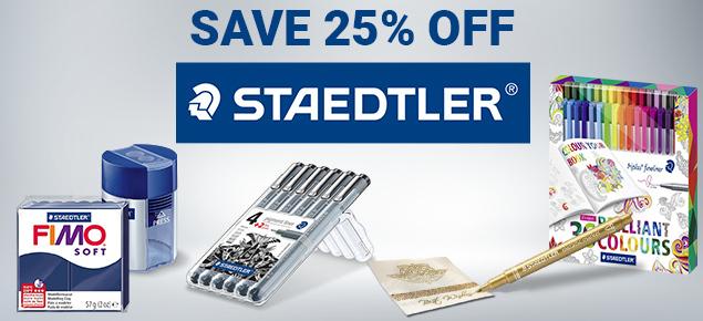 25% off Staedtler!