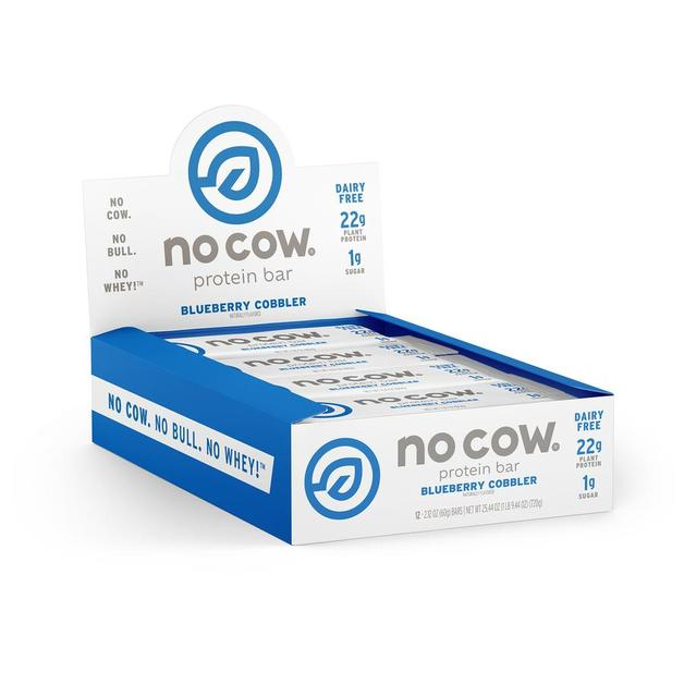 No Cow Dairy Free Protein Bar - Blueberry Cobler (Box of 12)