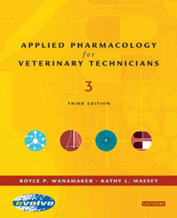 Applied Pharmacology for the Veterinary Technician by Boyce P. Wanamaker image