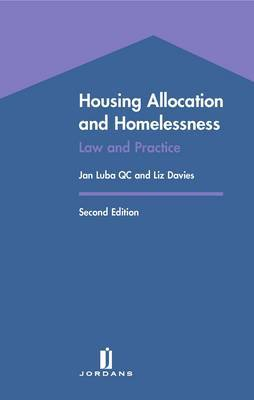 Housing Allocation and Homelessness: Law and Practice by Jan Luba image