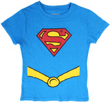 DC Comics: Supergirl Glitter Logo T-Shirt - (Large)