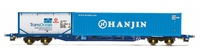 """Hornby: Tiphook KFA Container Wagon """"Hanjin"""""""