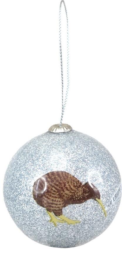Antics: Christmas Decoration - Silver Kiwi image