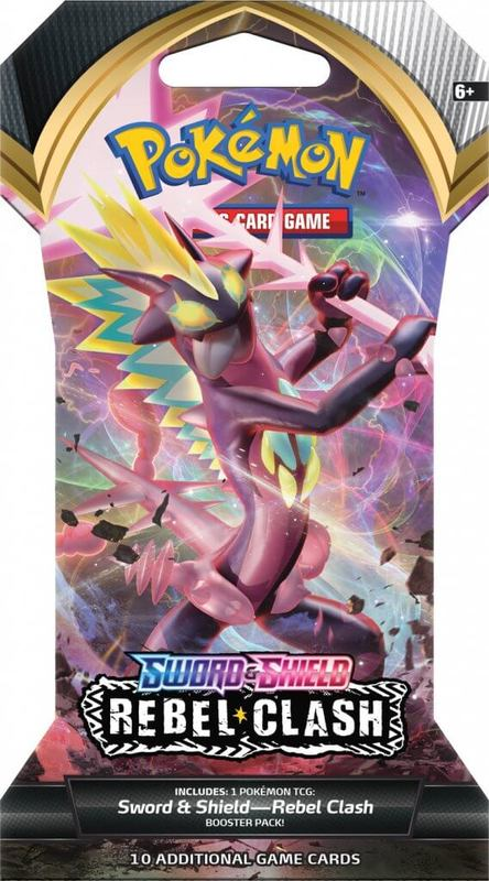 Pokemon TCG: Sword and Shield Rebel Clash Single Blister (10 Cards)
