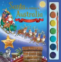 Santa is Coming to Australia Paint with Glitter image