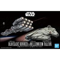Star Wars 1/1000 Blockade Runner & 1/350 Millennium Falcon - Model Kit