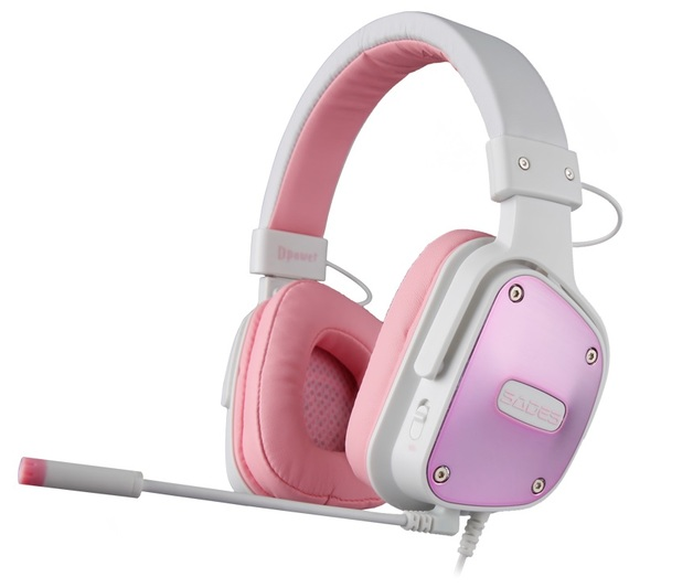 SADES D-Power Gaming Headset (Pink) for PC