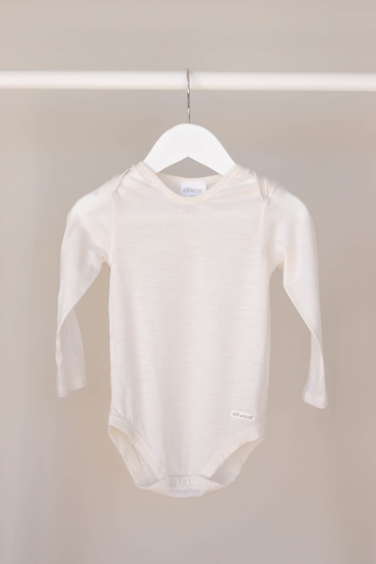 Elfwear: Merino Long Sleeve Bodysuit - (6-9m)