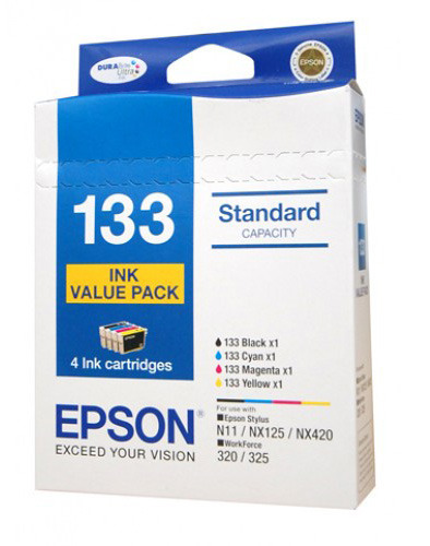 Epson 133 Ink Cartridges Value Pack (Black/Cyan/Magenta/Yellow)