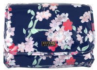 Wicked Sista Fold Out Bag With Hook - Lyrical Blooms Navy