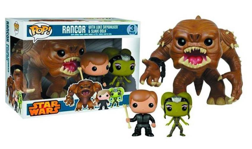 Star Wars - Rancor, Luke, and Oola Pop! Vinyl Set image