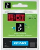 Dymo: 12mm D1 Tape - Black on Red