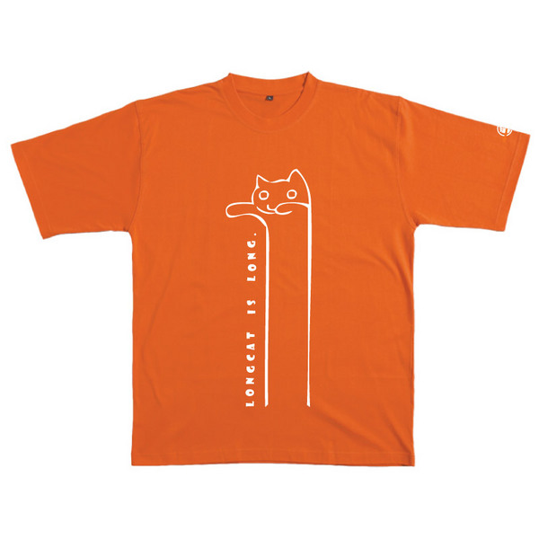 Longcat - Tshirt (Orange) for  image
