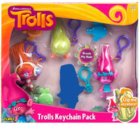 Trolls Medium Key Chains - 4 pack