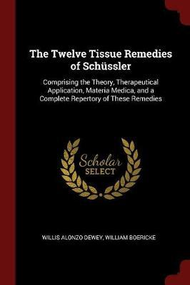 The Twelve Tissue Remedies of Schussler by Willis Alonzo Dewey