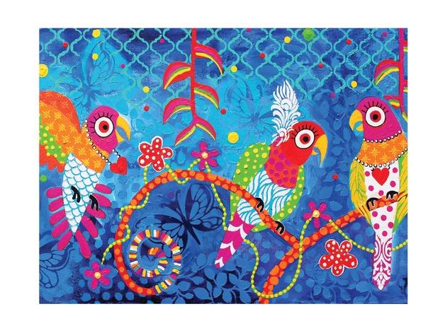 Maxwell & Williams: Love Hearts Tea Towel - Rainbow Girls