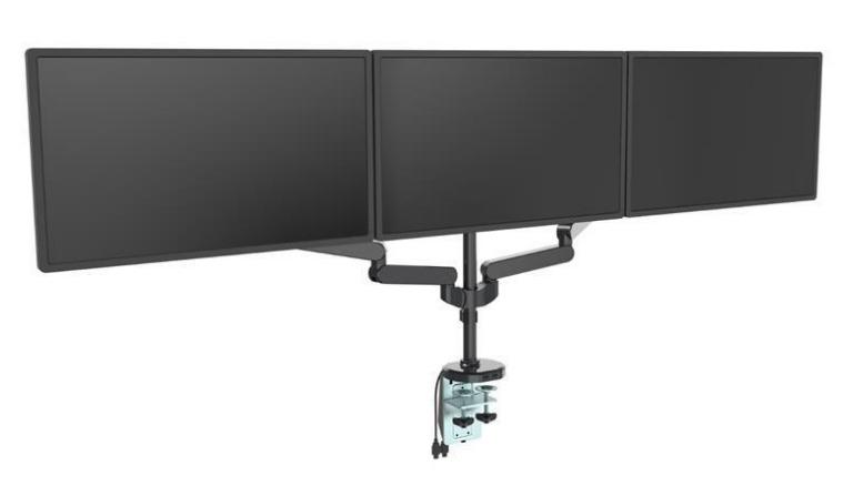 "Loctek: DLB530T Three Monitor Gas Arm Desk Mount (10""-30"") image"