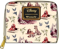 Loungefly: Lady & the Tramp - Print Zip-Around Wallet