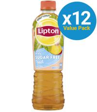 Lipton Ice Tea 99.9% Sugar Free Peach 500ml (12 Pack)