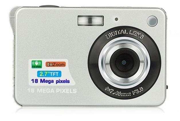 Ape Basics: Portable Mini 8x Zoom TFT LCD HD Digital Camera - Silver