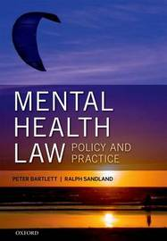 Mental Health Law: Policy and Practice by Peter Bartlett image