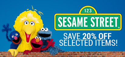 20% off select Sesame Street Toys!