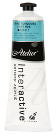 Atelier: Interactive Artists' Acrylic Paint - Cobalt Turquoise Light Hue (80ml)