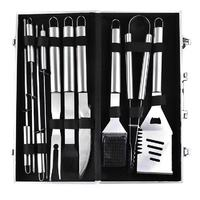 BBQ Grill Tool Set - 10-Piece (With Aluminium Carry Case)