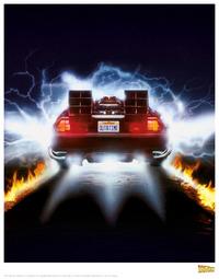 Back to the Future: Premium Art Print - Delorean #1 image