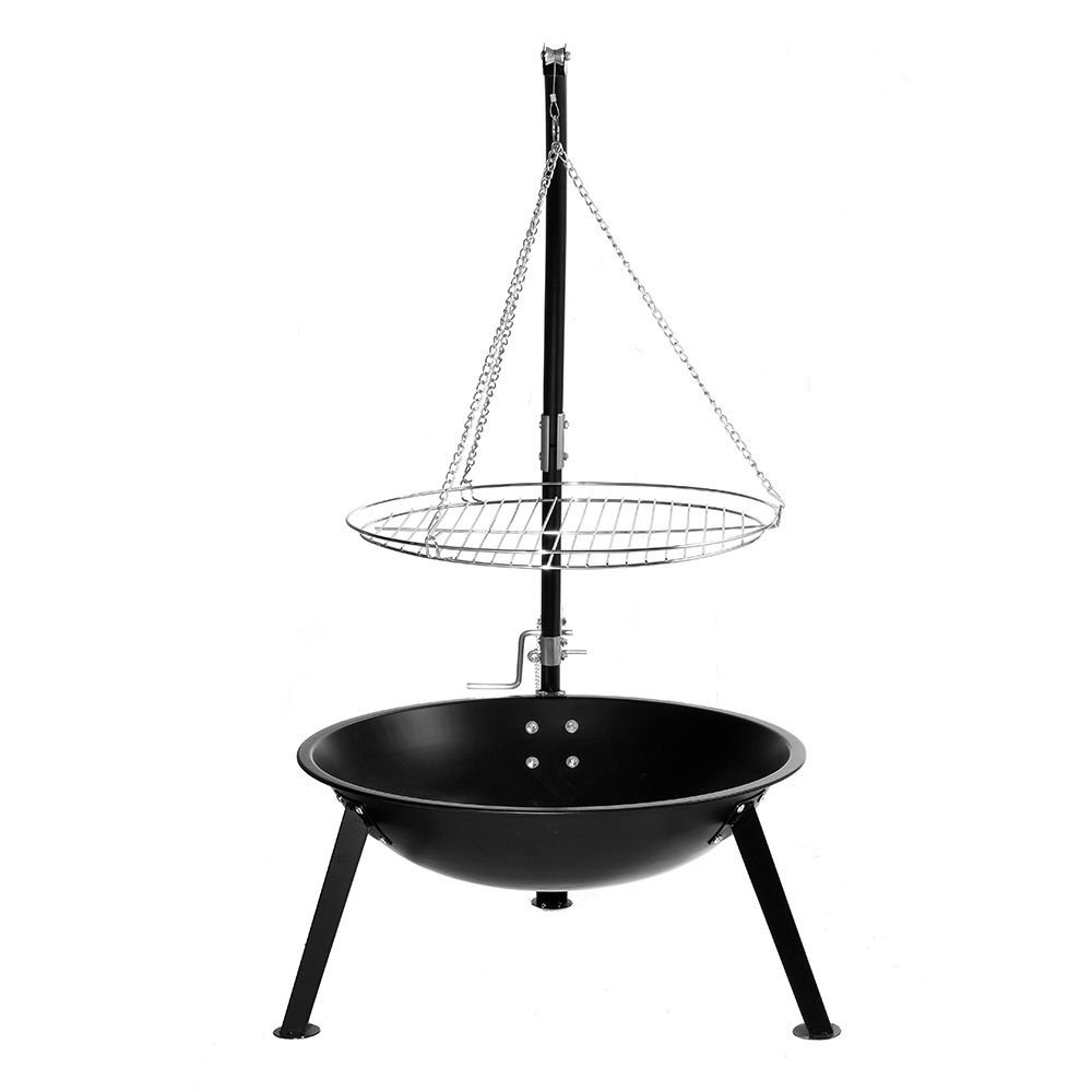 Buy 2-in-1 Tripod Hanging Charcoal BBQ & Fire Pit at Mighty Ape Australia