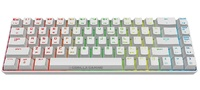 Gorilla Gaming Mini Wired Mechanical Keyboard (White) for PC