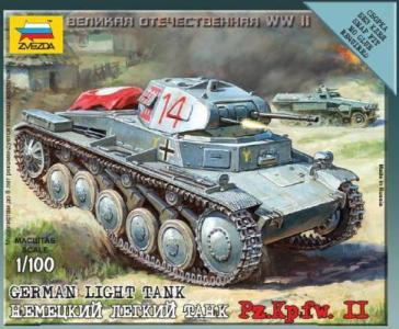 Zvezda 1/100 German Light Tank Pz.Kp.fw II