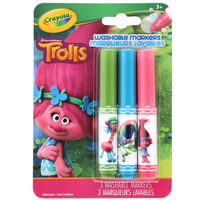 Crayola: Trolls Biggie Pipsqueak Markers – 3 Pack