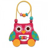 Stephen Joseph Rolling Wire & Bead Toy - Owl