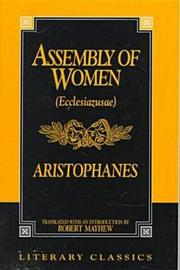 The Assembly Of Women by Aristophanes