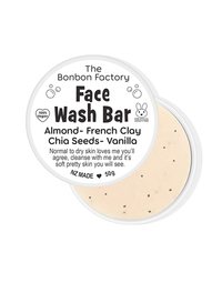 The Bonbon Factory Face Wash Bar - Almond, French Clay & Vanilla (50g)